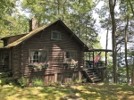 1930's Architect Designed Waterfront Log Cabin
